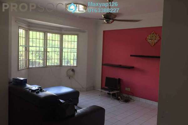 For Sale Apartment at Desa Dua, Kepong Freehold Semi Furnished 3R/2B 290k