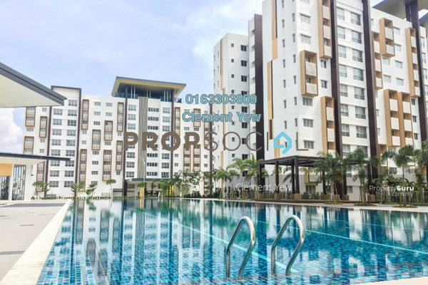 For Rent Apartment at Seri Mutiara, Setia Alam Freehold Semi Furnished 3R/2B 850translationmissing:en.pricing.unit