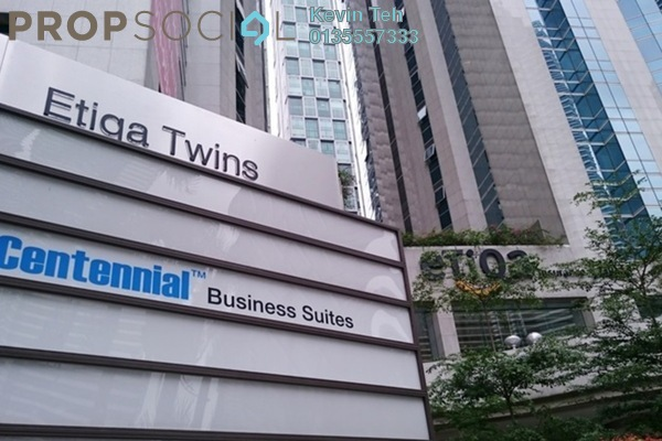 For Rent Office at Etiqa Twins, KLCC Freehold Fully Furnished 0R/0B 52k