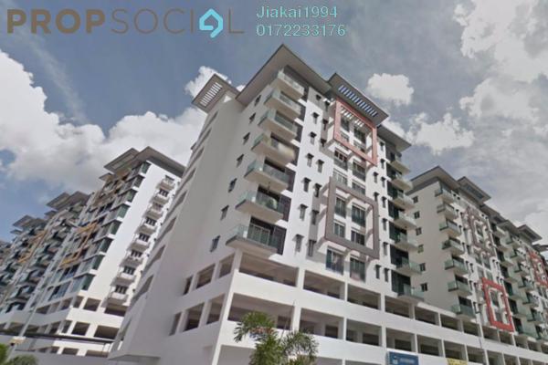 For Rent Condominium at Mahkota Garden Condominium, Bandar Mahkota Cheras Freehold Semi Furnished 4R/2B 1.1k