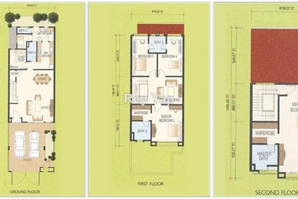 For Sale Townhouse at Challis Damansara, Sunway Damansara Leasehold Semi Furnished 4R/4B 1.1m