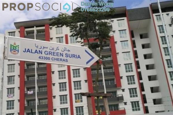 For Sale Apartment at Green Suria Apartment, Bandar Tun Hussein Onn Freehold Semi Furnished 3R/2B 370k