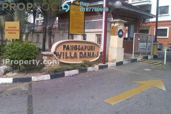 For Rent Condominium at Villa Danau, Setapak Leasehold Semi Furnished 3R/2B 1.4k