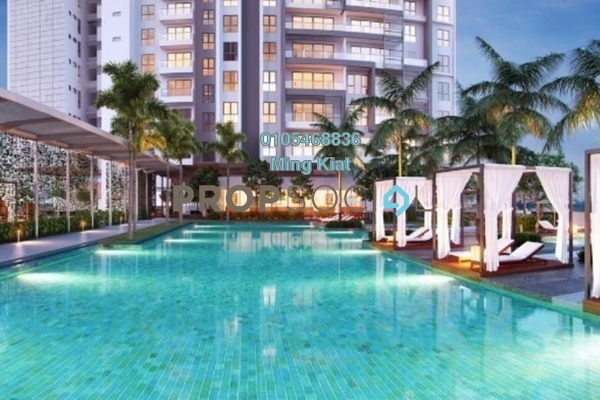 For Sale Condominium at Tria Residences @ 9 Seputeh, Old Klang Road Freehold Semi Furnished 2R/2B 700k