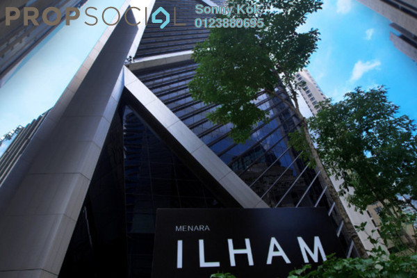 For Rent Office at Ilham Baru Tower, KLCC Freehold Fully Furnished 0R/0B 3.9k