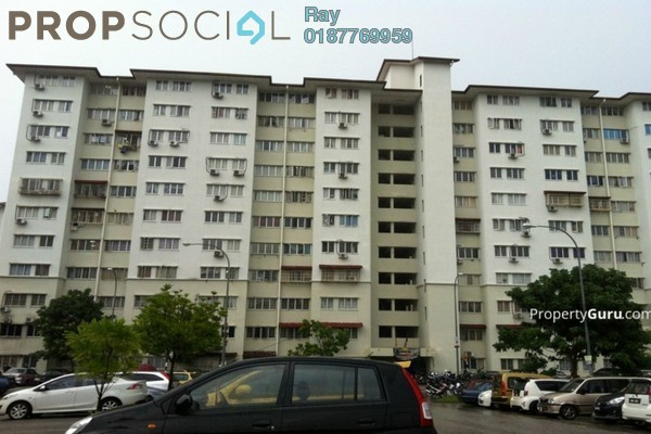 For Rent Apartment at Angsana Apartment, Bandar Mahkota Cheras Freehold Fully Furnished 3R/2B 1.2k