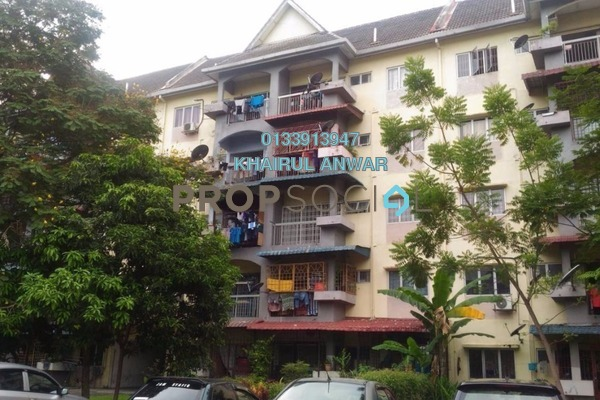 For Sale Apartment at Taman Sri Muda, Shah Alam Freehold Unfurnished 3R/2B 195k