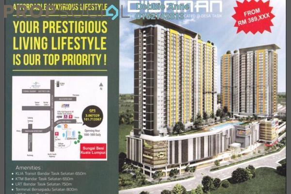 For Sale Condominium at D'Idaman Residence, Bandar Tasik Selatan Freehold Unfurnished 3R/2B 480k