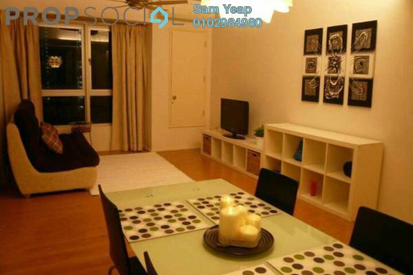 For Rent Condominium at i-Zen Kiara I, Mont Kiara Freehold Fully Furnished 2R/2B 3.2k