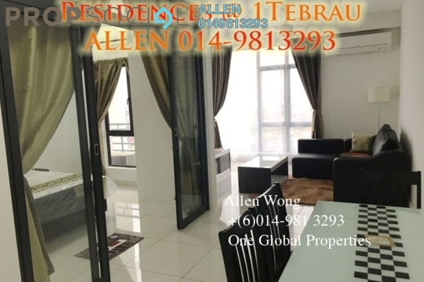 For Rent Condominium at 1Tebrau, Johor Bahru Leasehold Fully Furnished 1R/1B 1.3k