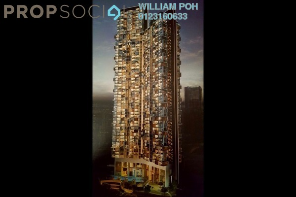 For Sale Serviced Residence at KL Eco City, Mid Valley City Leasehold Semi Furnished 1R/1B 1m