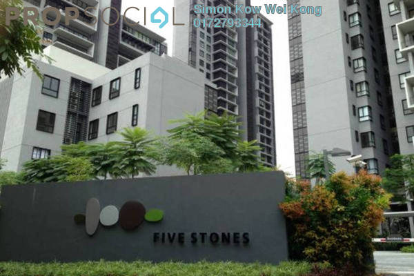 For Rent Condominium at Five Stones, Petaling Jaya Freehold Semi Furnished 3R/4B 4k