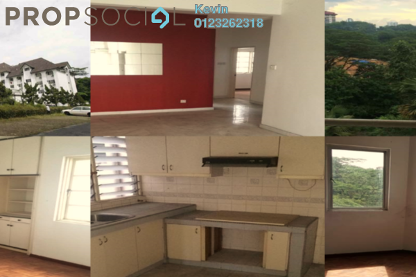 For Sale Apartment at Le Chateau, Seputeh Freehold Semi Furnished 4R/2B 360k
