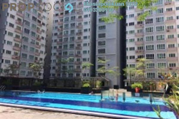 For Rent Apartment at Banjaria Court, Batu Caves Leasehold Semi Furnished 3R/2B 1.2k