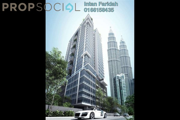 For Sale Condominium at Mirage Residence, KLCC Freehold Semi Furnished 2R/2B 2.2m
