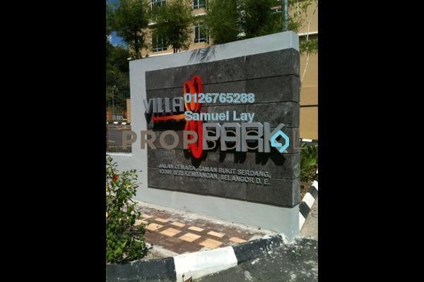 For Sale Condominium at Villa Park, Seri Kembangan Freehold Fully Furnished 3R/2B 458k