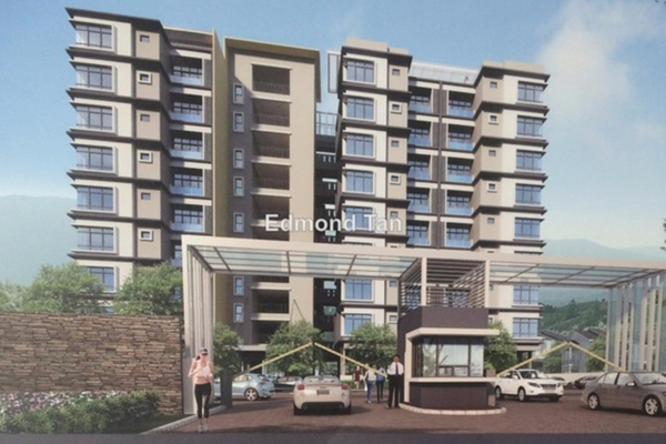 For Sale Condominium at Parkview Residence, Ipoh Leasehold Semi Furnished 3R/3B 440k