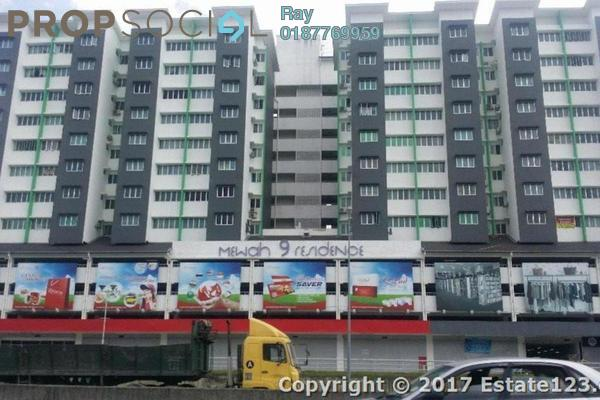 For Rent Apartment at Mewah 9 Residence, Kajang Freehold Semi Furnished 3R/2B 1.1k