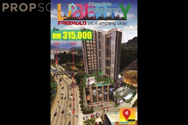 For Sale SoHo/Studio at Liberty Arc @ Ampang Ukay, Ukay Freehold Fully Furnished 1R/1B 315k