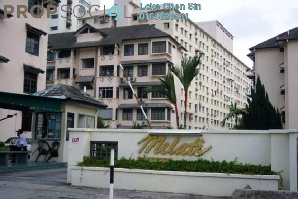 For Rent Apartment at Melati Apartment, Sungai Nibong Freehold Semi Furnished 3R/2B 1k
