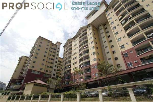 For Sale Apartment at Mandy Villa, Segambut Leasehold Semi Furnished 3R/2B 370k