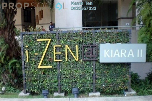 For Rent Condominium at i-Zen Kiara II, Mont Kiara Freehold Fully Furnished 1R/1B 2.7k