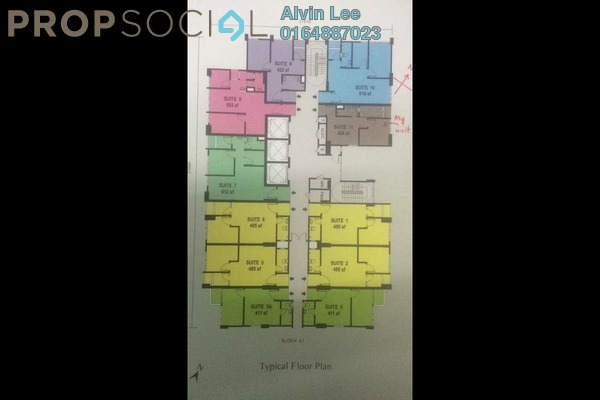 For Rent Condominium at Straits Garden, Jelutong Freehold Fully Furnished 0R/1B 1.5k