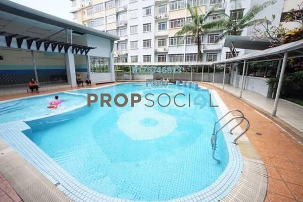 For Sale Apartment at Taman Bukit Pelangi, Subang Jaya Leasehold Semi Furnished 3R/1B 300k