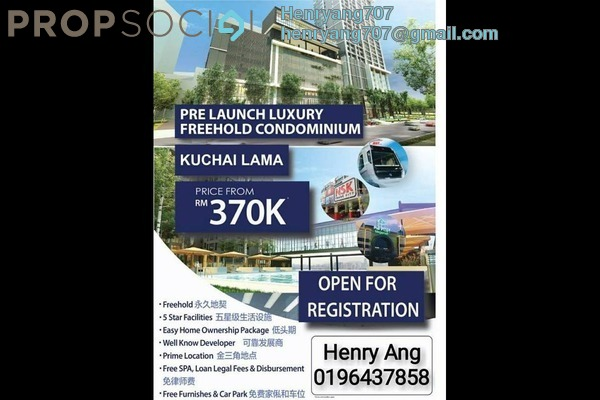 For Sale Condominium at De Tropicana, Kuchai Lama Leasehold Semi Furnished 3R/2B 370k