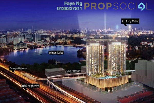 For Sale Serviced Residence at Astetica Residences, Seri Kembangan Leasehold Semi Furnished 2R/2B 440k