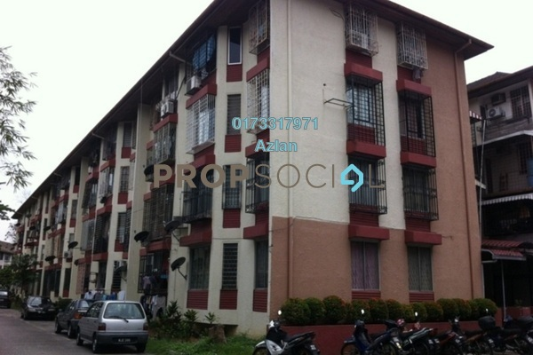 For Rent Apartment at Rampai Court, Setapak Freehold Semi Furnished 2R/1B 1.05k