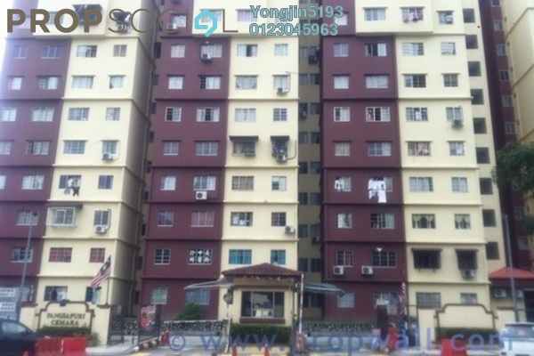 For Rent Apartment at Cemara Apartment, Bandar Sri Permaisuri Leasehold Unfurnished 3R/2B 1.1k