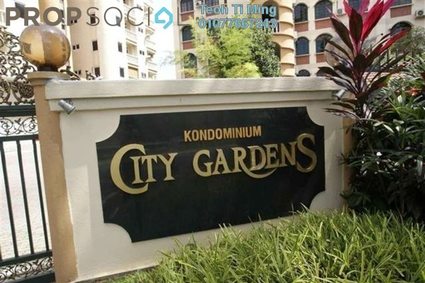 For Rent Condominium at City Gardens, Bukit Ceylon Leasehold Fully Furnished 3R/2B 2.5k