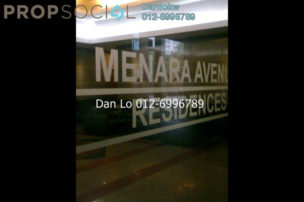 For Rent Condominium at Menara Avenue, KLCC Freehold Fully Furnished 2R/2B 3.5k