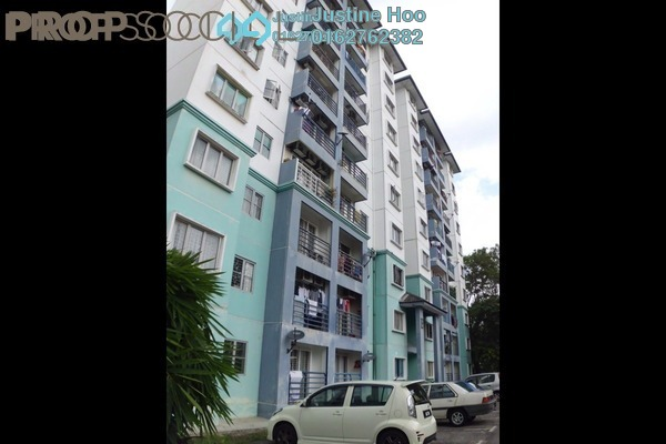 For Rent Apartment at Akasia Apartment, Pusat Bandar Puchong Freehold Semi Furnished 3R/2B 1.2k