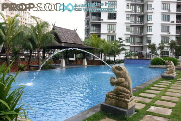 For Sale Condominium at Atmosfera, Bandar Puchong Jaya Freehold Semi Furnished 4R/3B 520k
