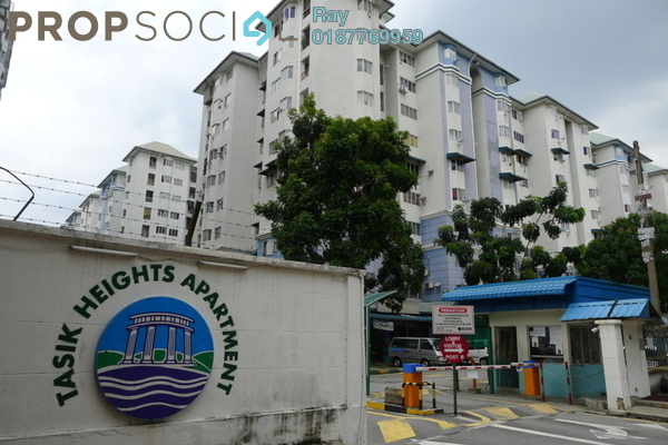 For Rent Apartment at Tasik Heights Apartment, Bandar Tasik Selatan Leasehold Semi Furnished 3R/2B 1.2k