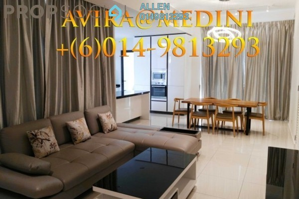 For Rent Terrace at Avira, Medini Leasehold Fully Furnished 3R/3B 3k