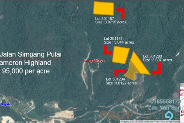 For Sale Land at Jalan Simpang Pulai - Cameron Highlands, Perak Leasehold Unfurnished 0R/0B 95k
