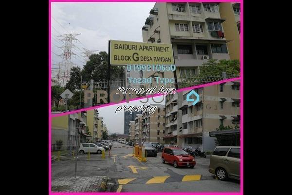 For Rent Apartment at Baiduri Apartment, Desa Pandan Freehold Fully Furnished 3R/2B 1.3k
