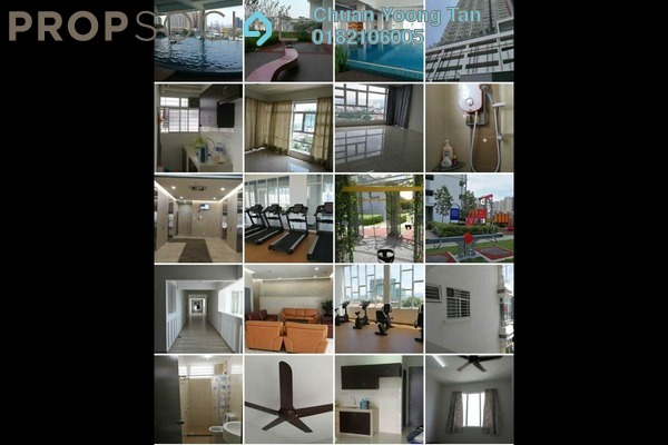 For Rent Condominium at MH Platinum Residency, Setapak Freehold Semi Furnished 2R/1B 1.3k