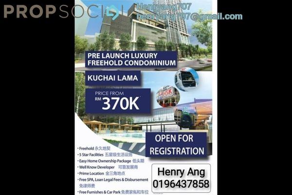For Sale Condominium at Kuchai Avenue, Kuchai Lama Freehold Semi Furnished 3R/2B 370k