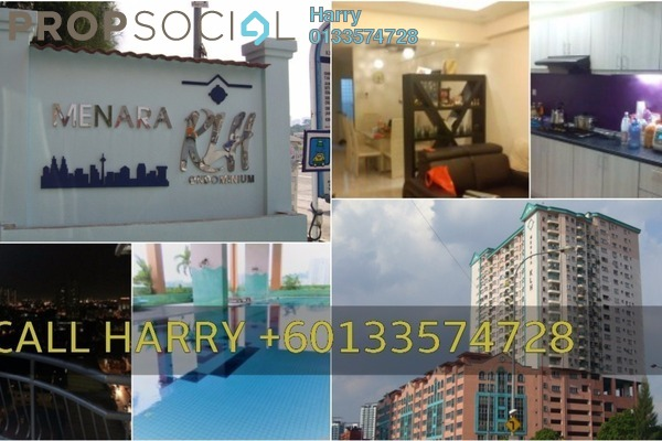 For Rent Condominium at Menara KLH, Sentul Freehold Fully Furnished 3R/3B 1.8k