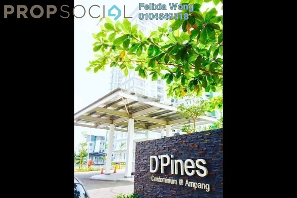 For Rent Condominium at D'Pines, Pandan Indah Freehold Semi Furnished 3R/2B 1.9k