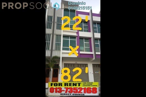 For Rent Shop at Taman Mutiara Mas, Skudai Freehold Unfurnished 0R/6B 5.25k