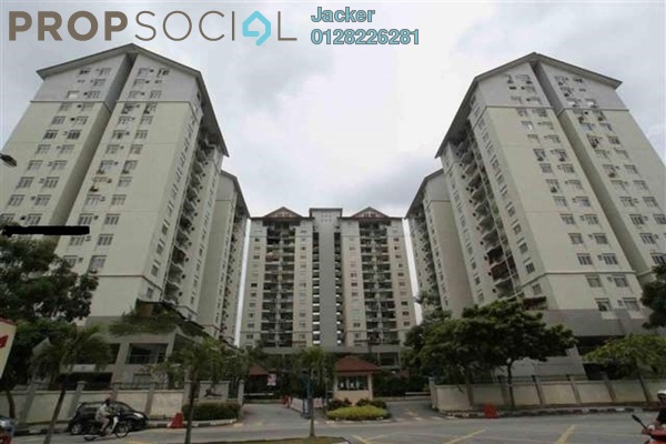 For Rent Condominium at Mentari Condominium, Bandar Sri Permaisuri Freehold Semi Furnished 3R/2B 1.5k