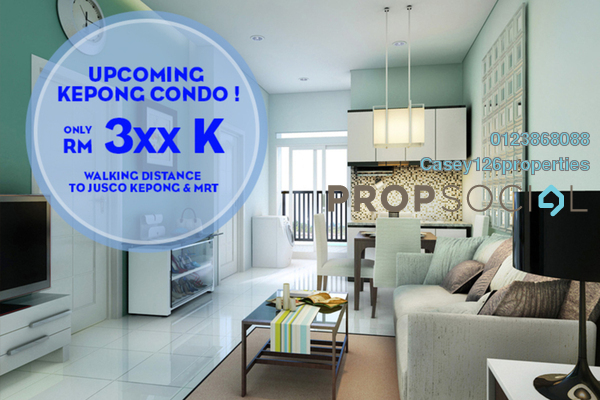 For Sale Condominium at Taman Kepong, Kepong Freehold Unfurnished 3R/2B 380k