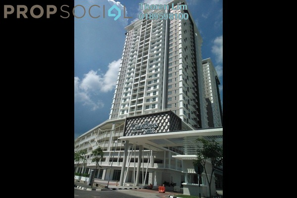 For Rent Condominium at Gardens Ville, Sungai Ara Freehold Fully Furnished 3R/2B 1.95k