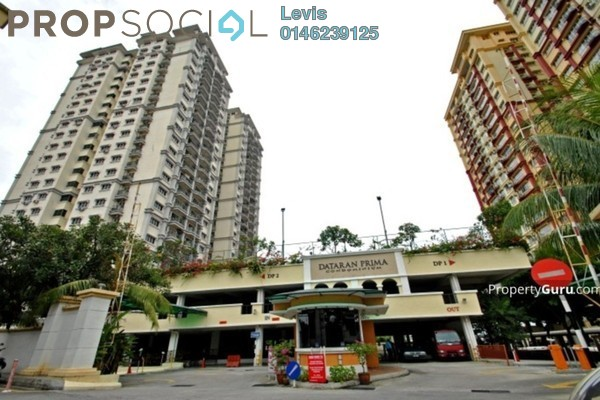 For Rent Condominium at Dataran Prima Condominium, Kelana Jaya Freehold Fully Furnished 3R/2B 2.35k