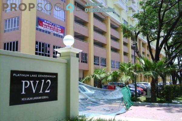 For Rent Condominium at Platinum Lake PV12, Setapak Freehold Semi Furnished 3R/2B 1.9k